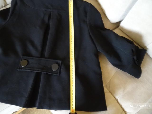 """Пальто из п/э и вискозы """"Аtmosphere"""" с рукавом 3/4, размер 44, б/у"""
