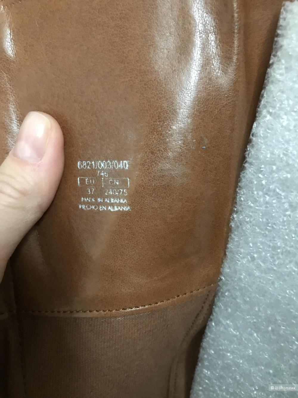 Сапоги из натуральной кожи Zara, 37 размер