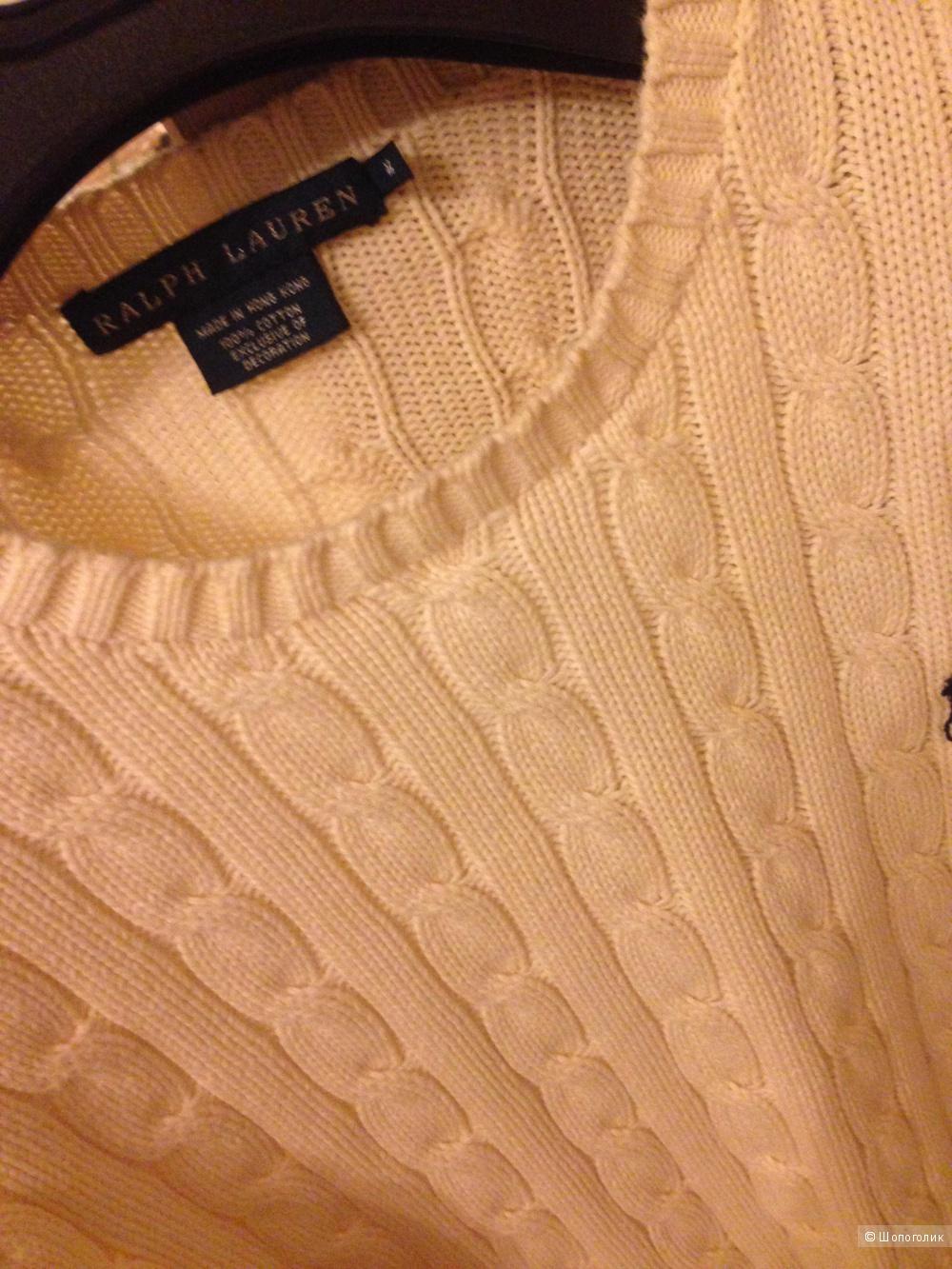 Молочный свитер от Ralph Lauren 100% хлопок на s