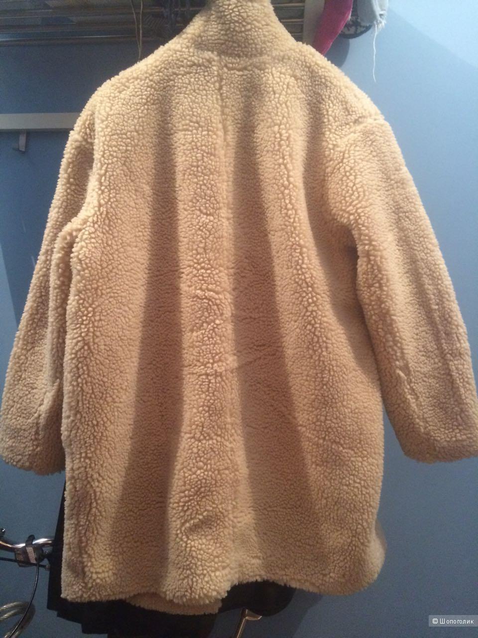 Новое меховое пальто H&M - размер М
