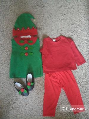 Новогодний костюм Эльфа размер 98