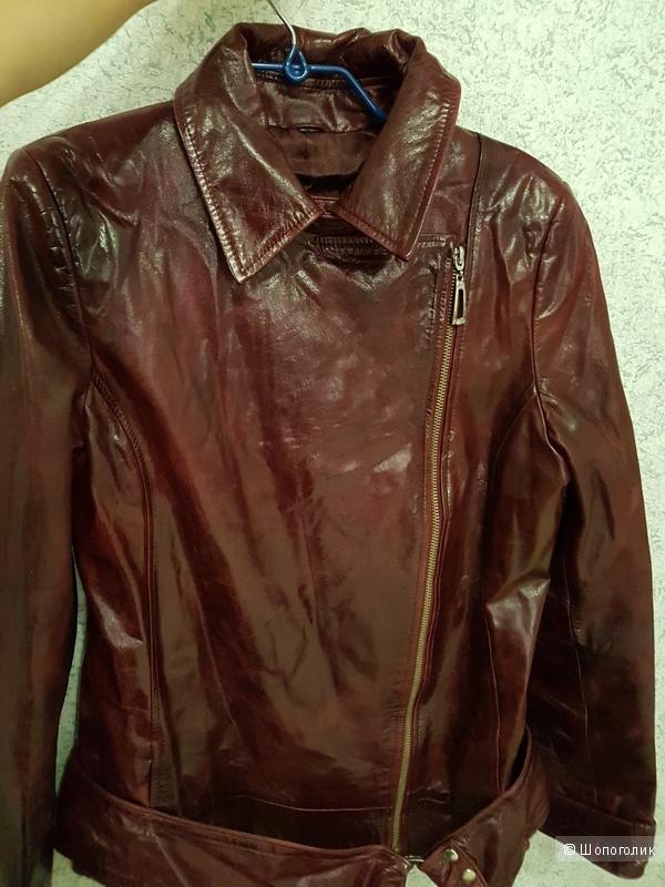 Куртка-косуха кожаная Vera Pelle, р. M