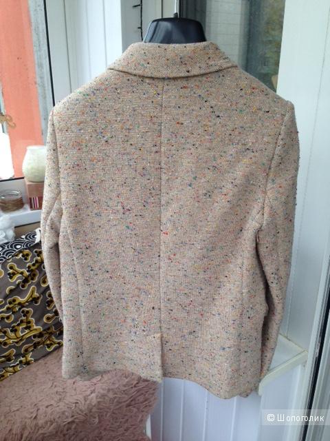 Хлопковый жакет с шерстью и шелком MANGO (42-44 размер)