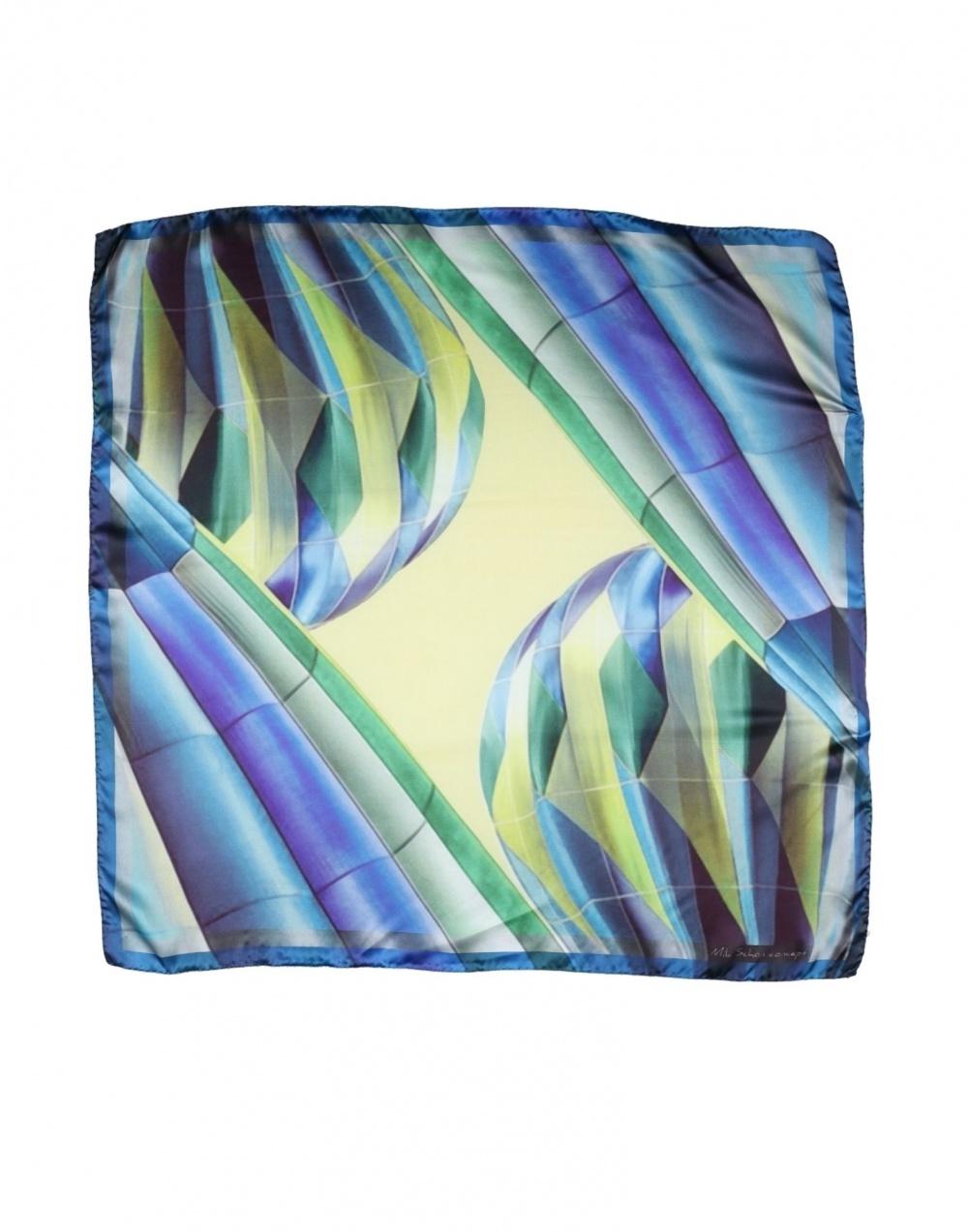 Шелковый платок MILA SCHÖN CONCEPT, Синий. Размер 85*85 см