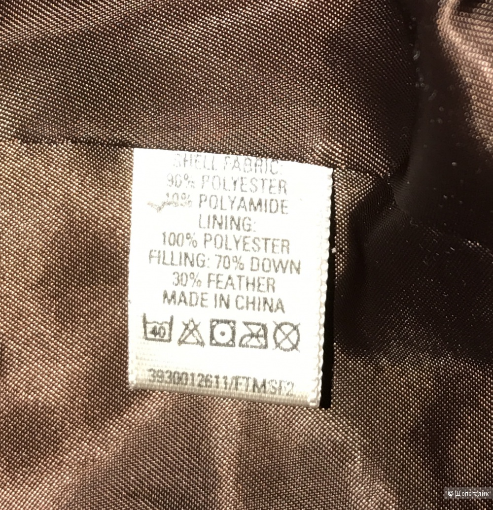 Пуховик коричневый,  Oasis, 42-44 р