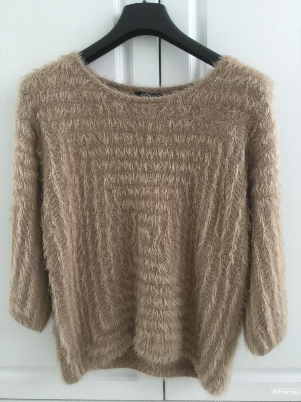 Пушистый свитер Care of you, размер M-L