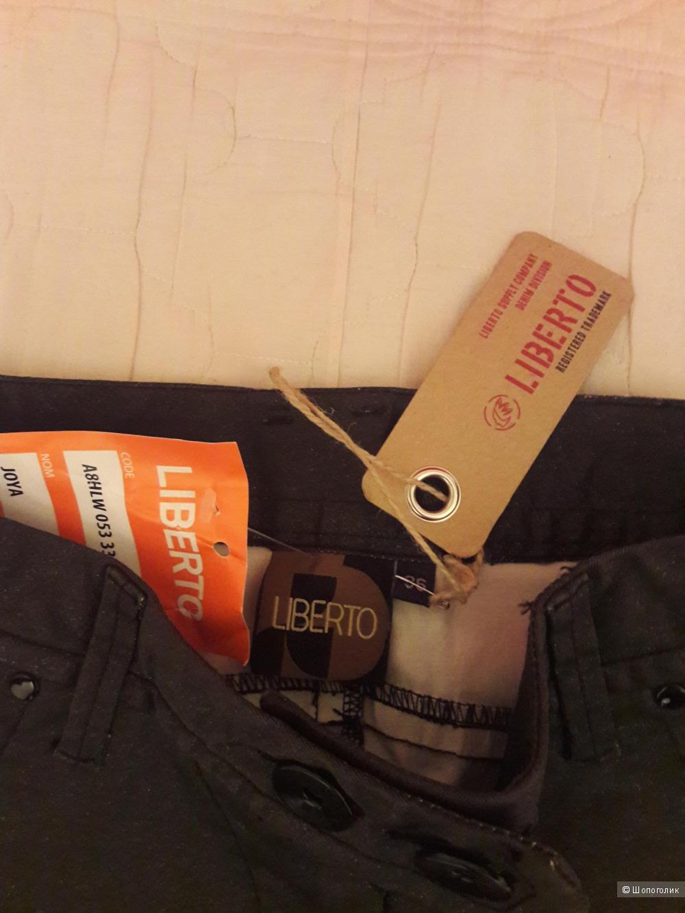 Liberto: джинсовая юбка с блеском , 36