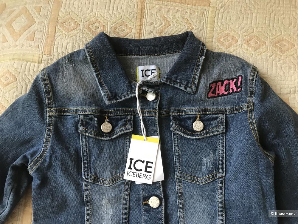 Джинсовый пиджак ice iceberg размер 12 лет