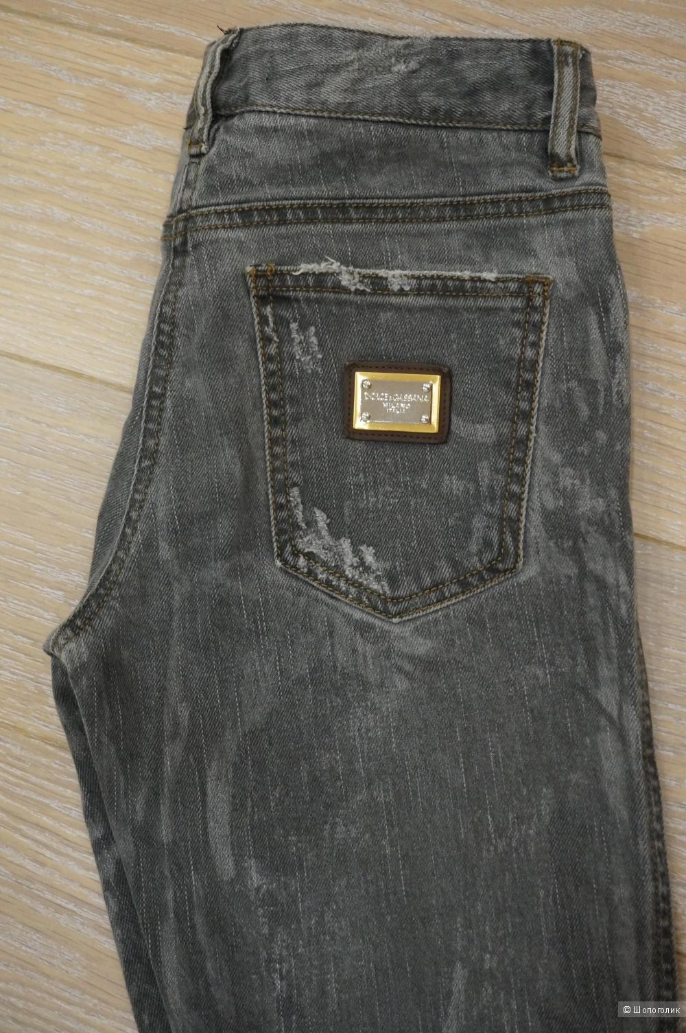 Джинсы D&G 38it (джинсовый 24-25, росс. 40-42)