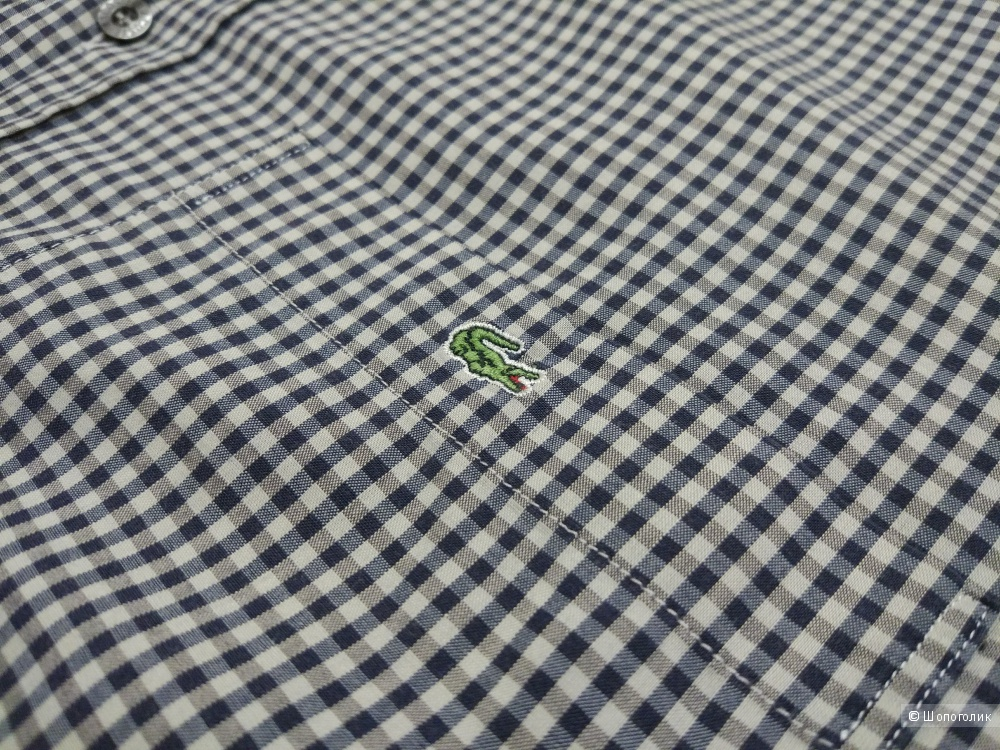 Рубашка в клетку LACOSTE, размер 40