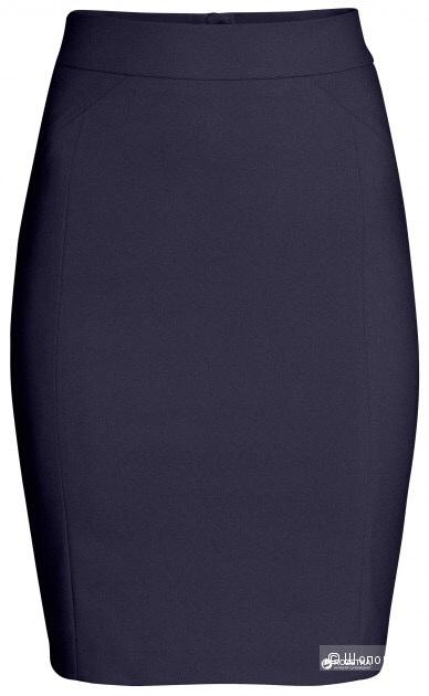 Новая темно-синяя юбка H&M, р. 38 европейский