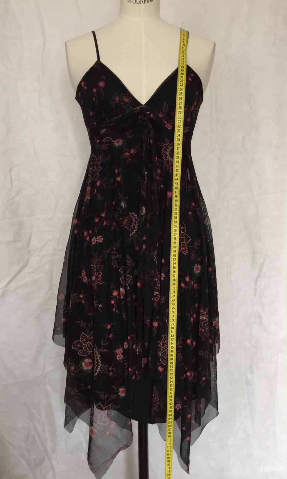Коктельное платье ассиметричного кроя  марки 3 suisses рамзер xs