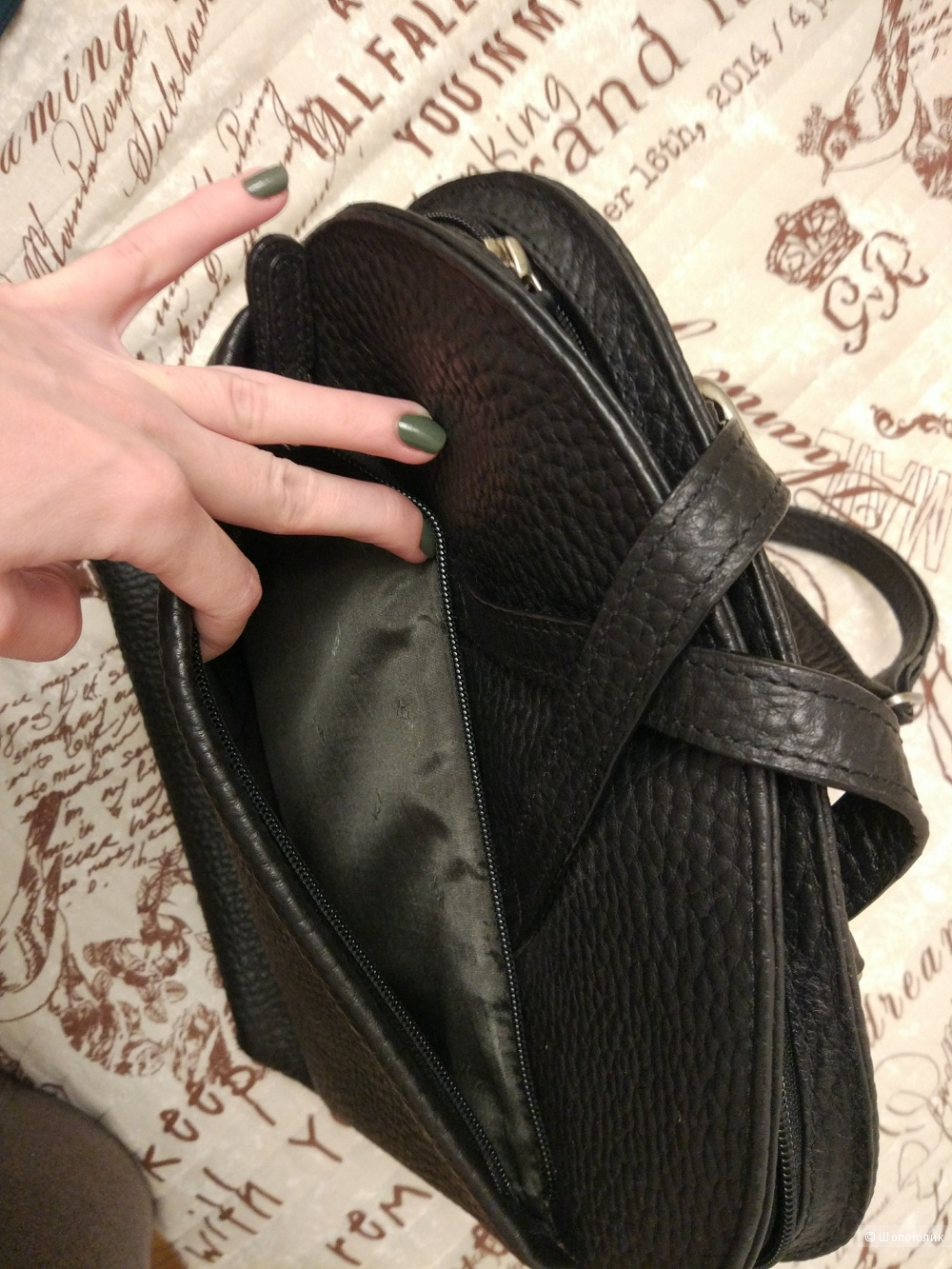 Стильный черный рюкзак Voi из кожзама