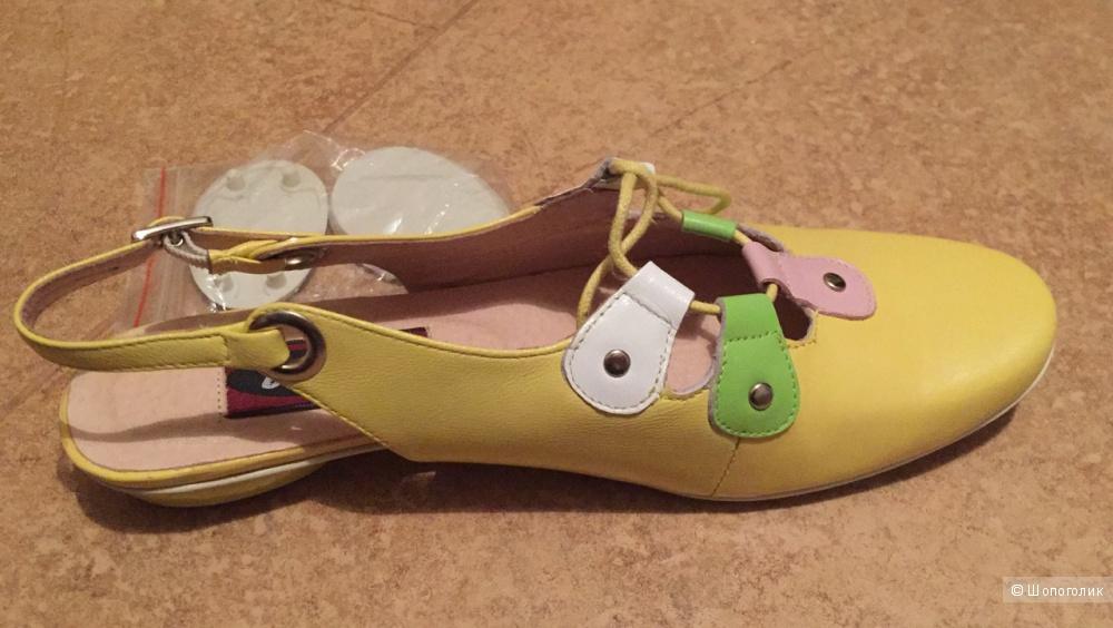 Кожаные туфельки Bagira, 36р.