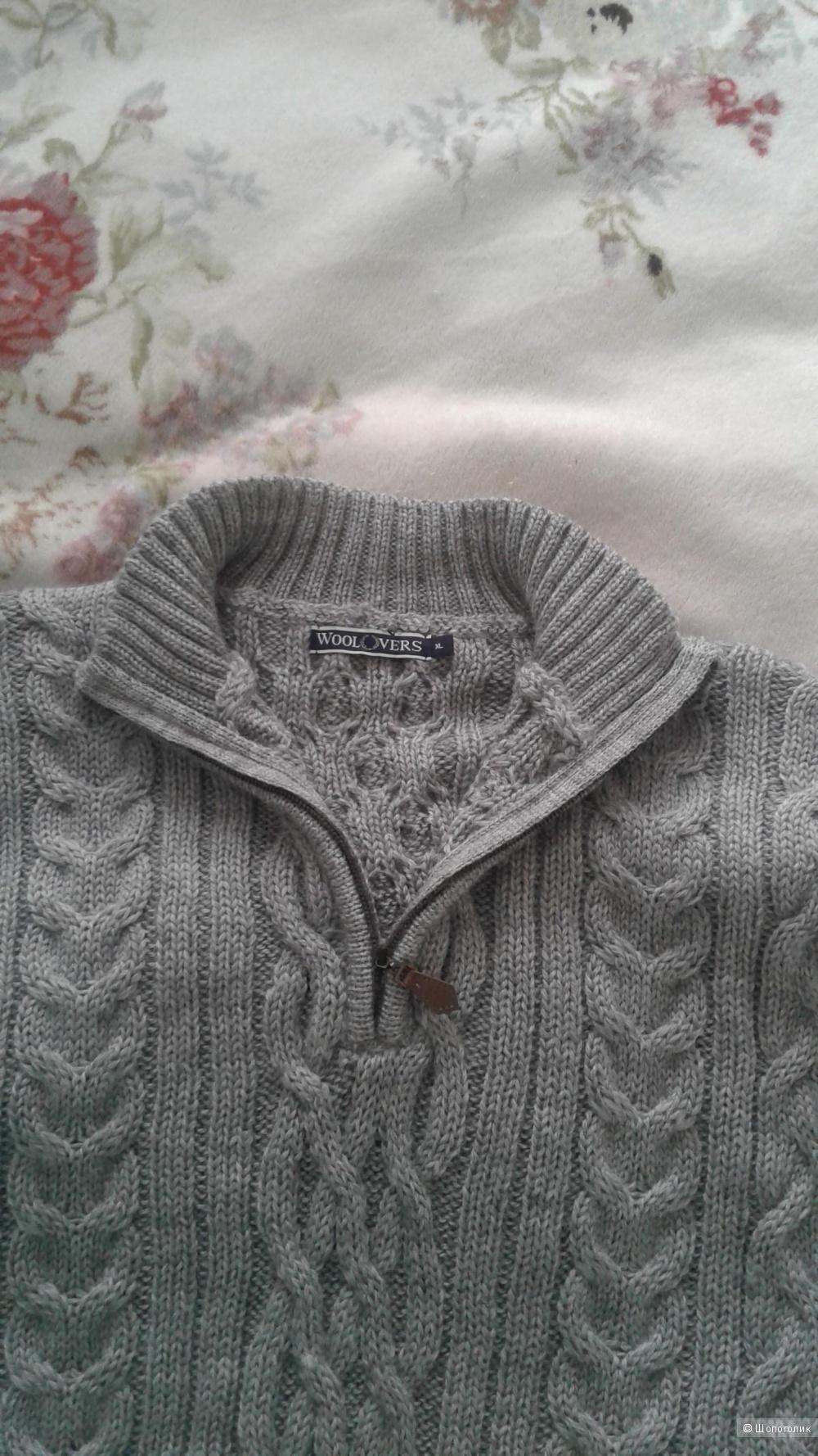 Мужской свитер из 100% овечьей шерсти Woolovers, XL