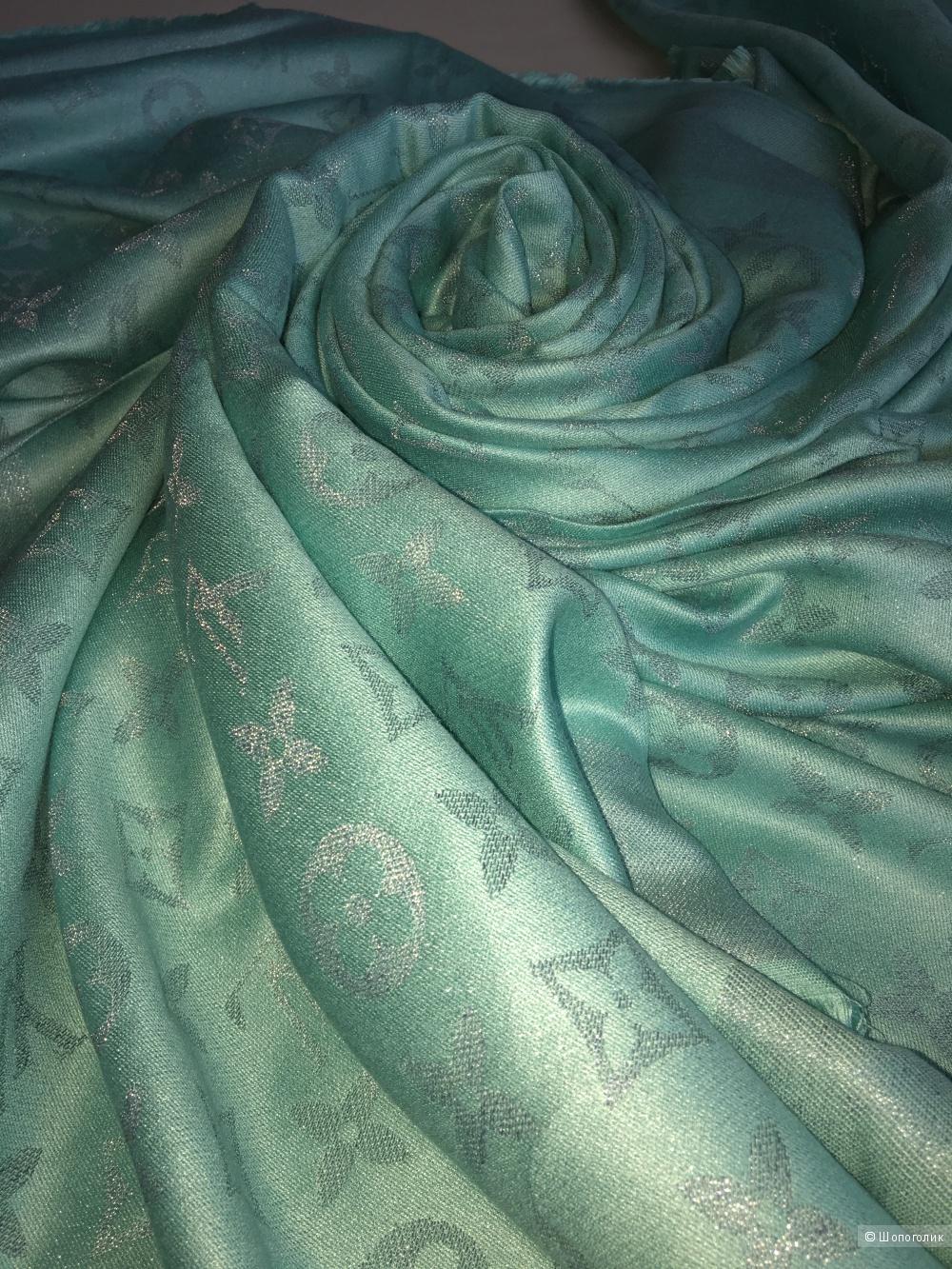 Итальянский платок Louis Vuitton Тиффани, 140 см, шерсть, шелк