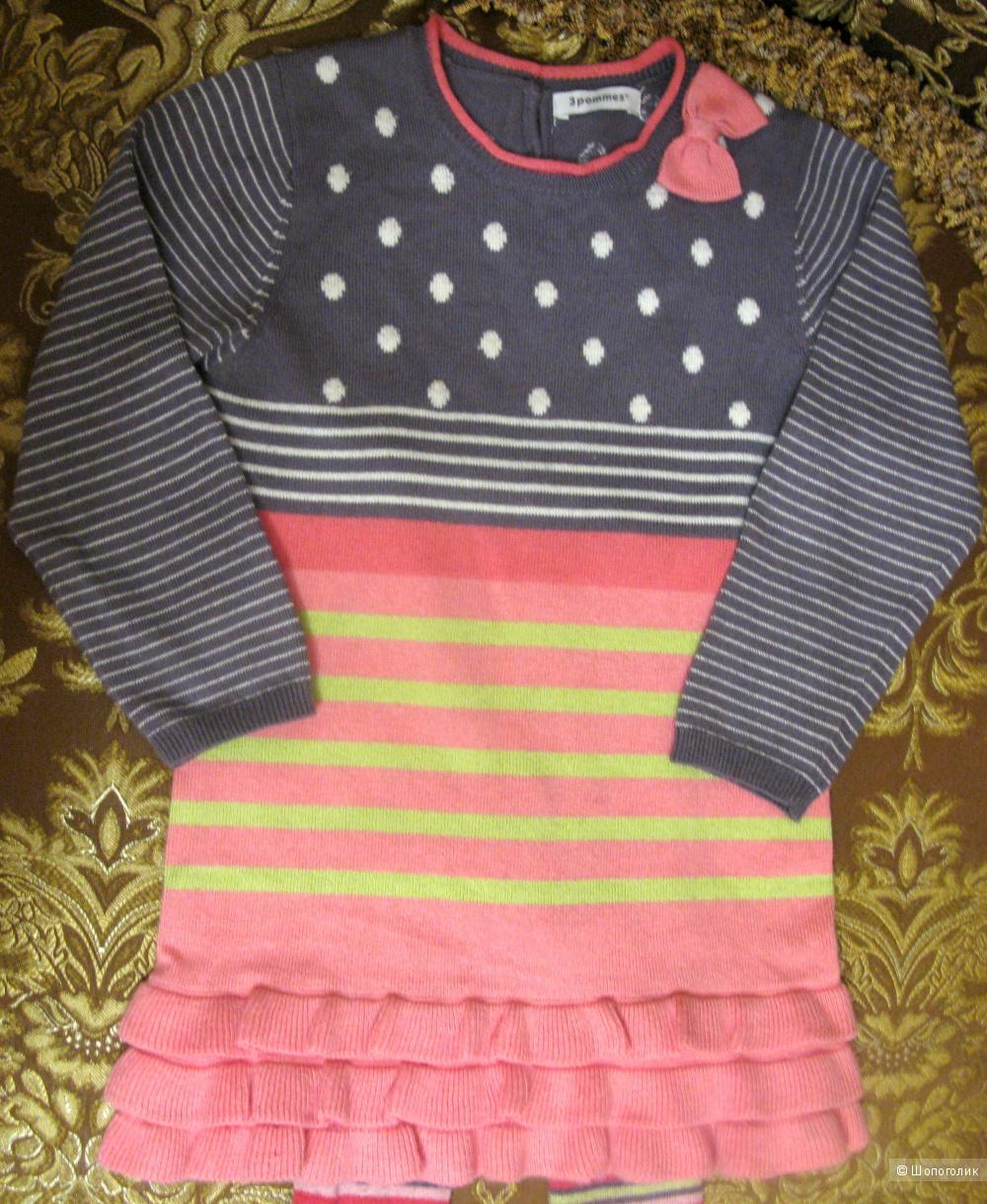 Платье и колготки 3Pommes Франция размер 3 на рост 92-98 см