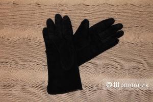 Черные Замшевые Перчатки 8,5см