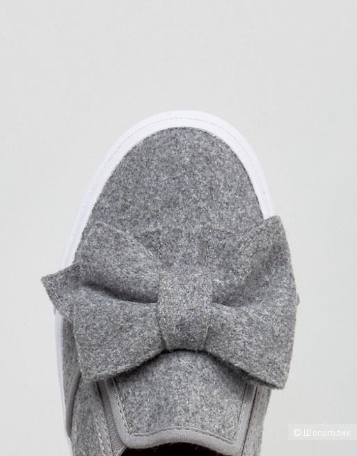 Слипоны Asos, фетровый верх, размер 37