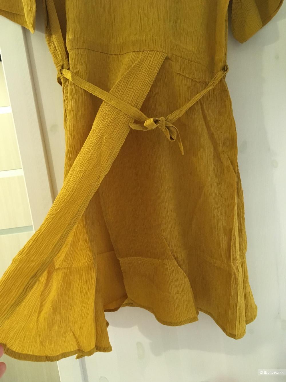 Платье-туника из натурального шёлка, размер 46-48