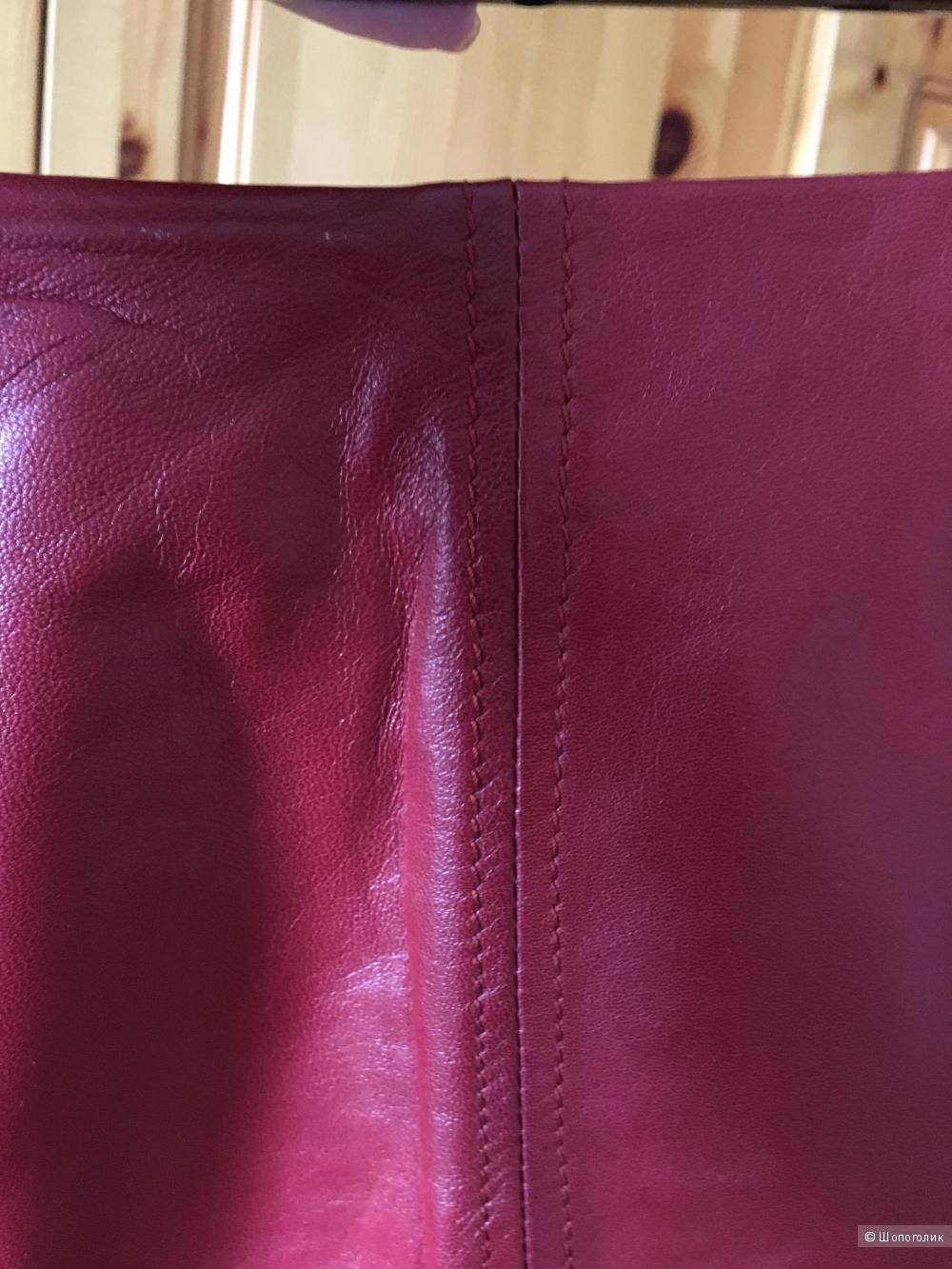 Кожаная юбка Weekend MaxMara размер IT46