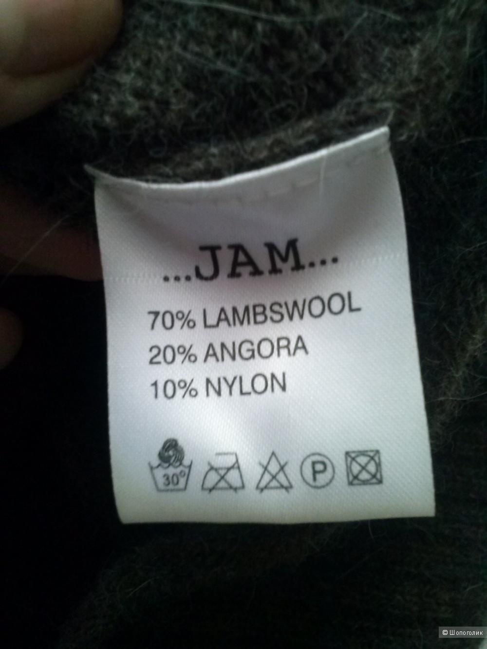 Jam коричневый шерстяной свитер. (70%шерсть, 20%ангора10%,нейлон) Новый.