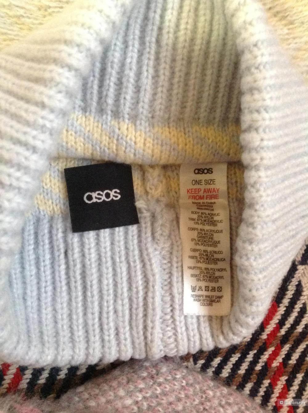 Комплект - шапка/шарф/перчатки, ASOS, one size