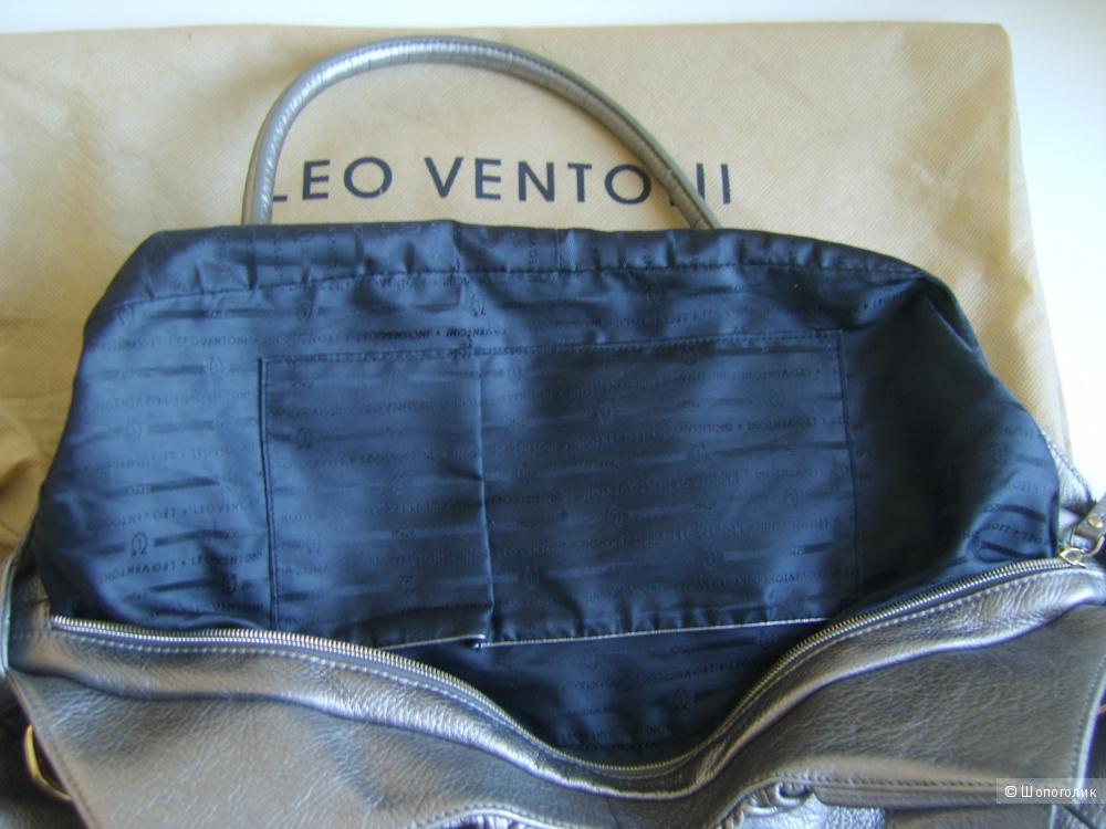 Сумка кожаная вместительная Leo Ventoni