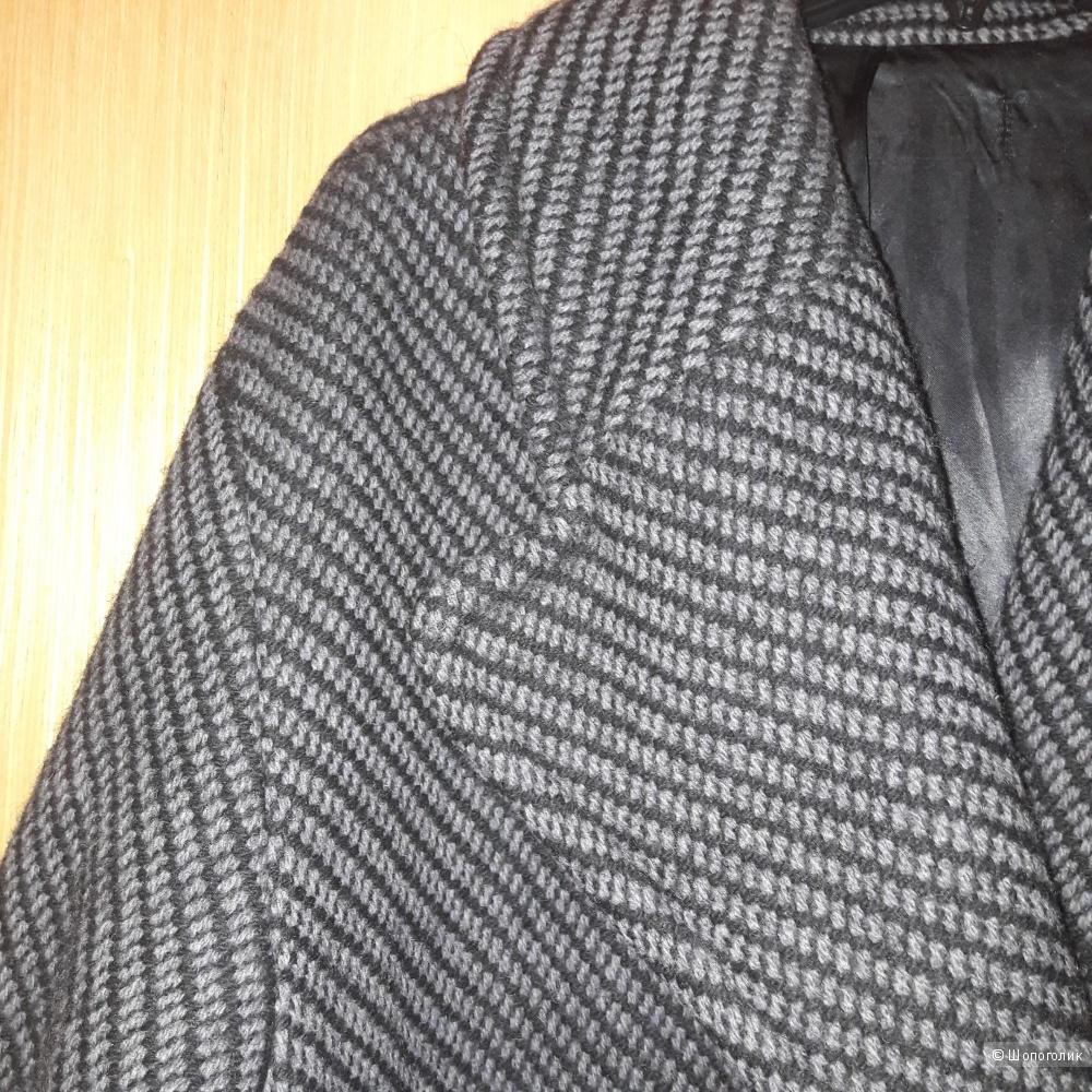 Пальто шерстяное oversize размер 48
