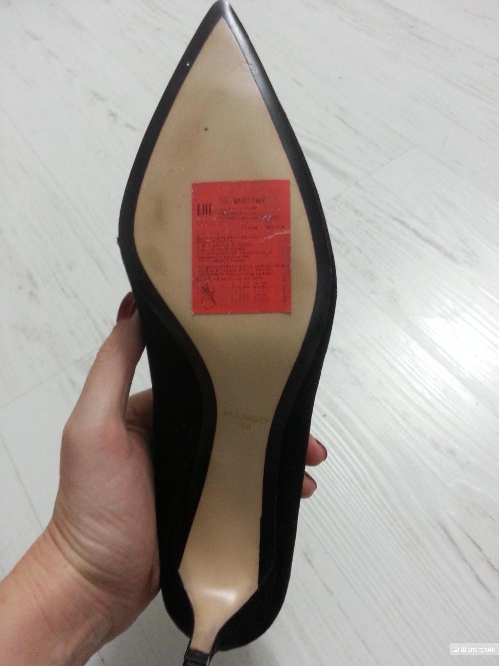 Туфли Манго 40 размер новые велюровые