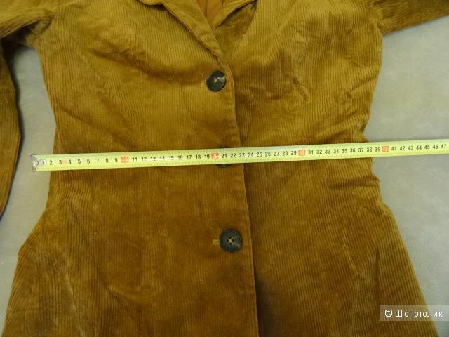 "Пиджак вельветовый ""Ganni"", размер 42-44, б/у"