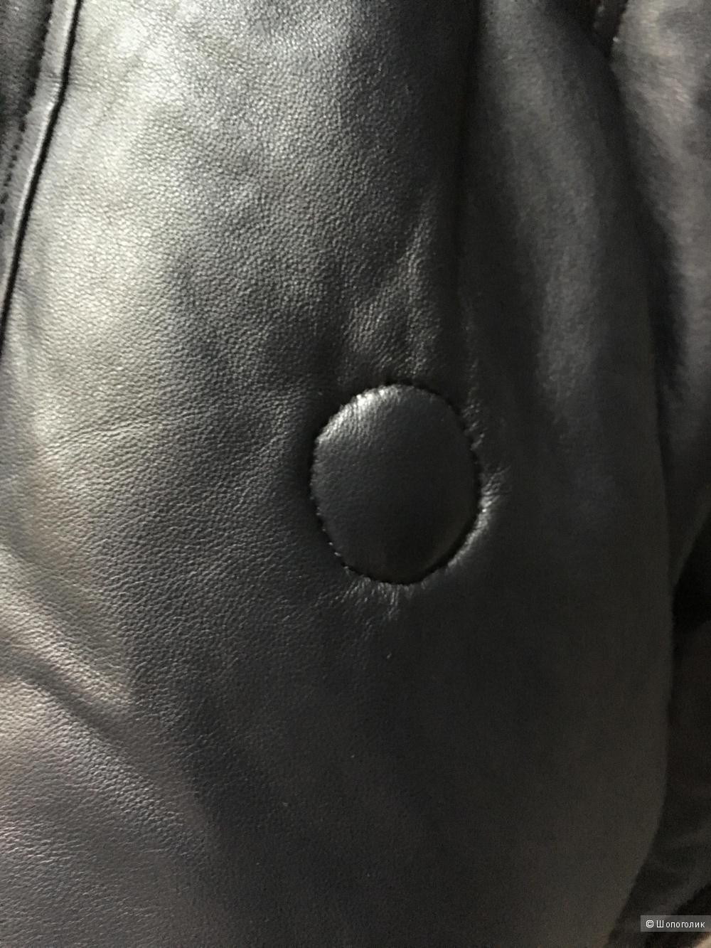 Пуховик  кожаный, Vivi, 42-44