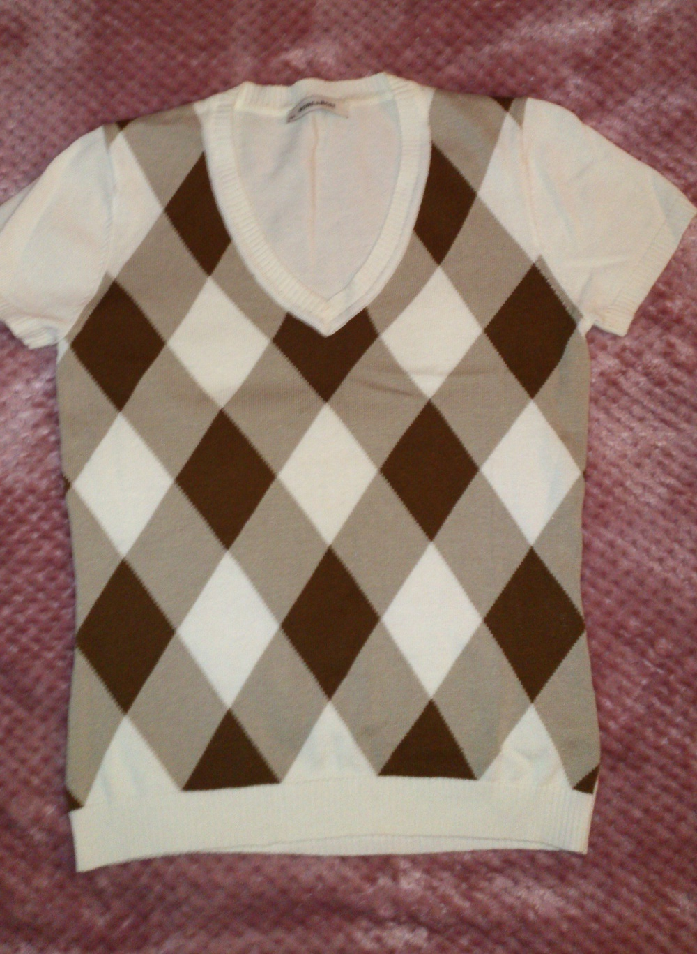 Кофта = пуловер с коротким рукавом MORE & MORE, размер 34 (нем) = 40-42 (рос), Германия