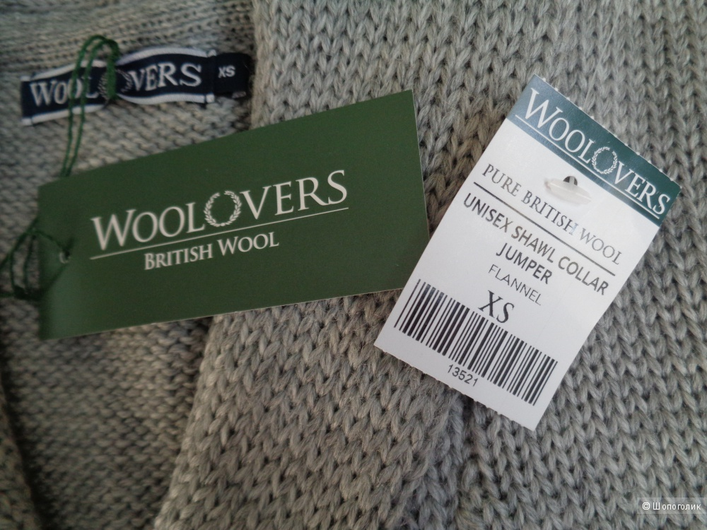 Джемпер унисекс Woolovers XS, 100% овечья шерсть