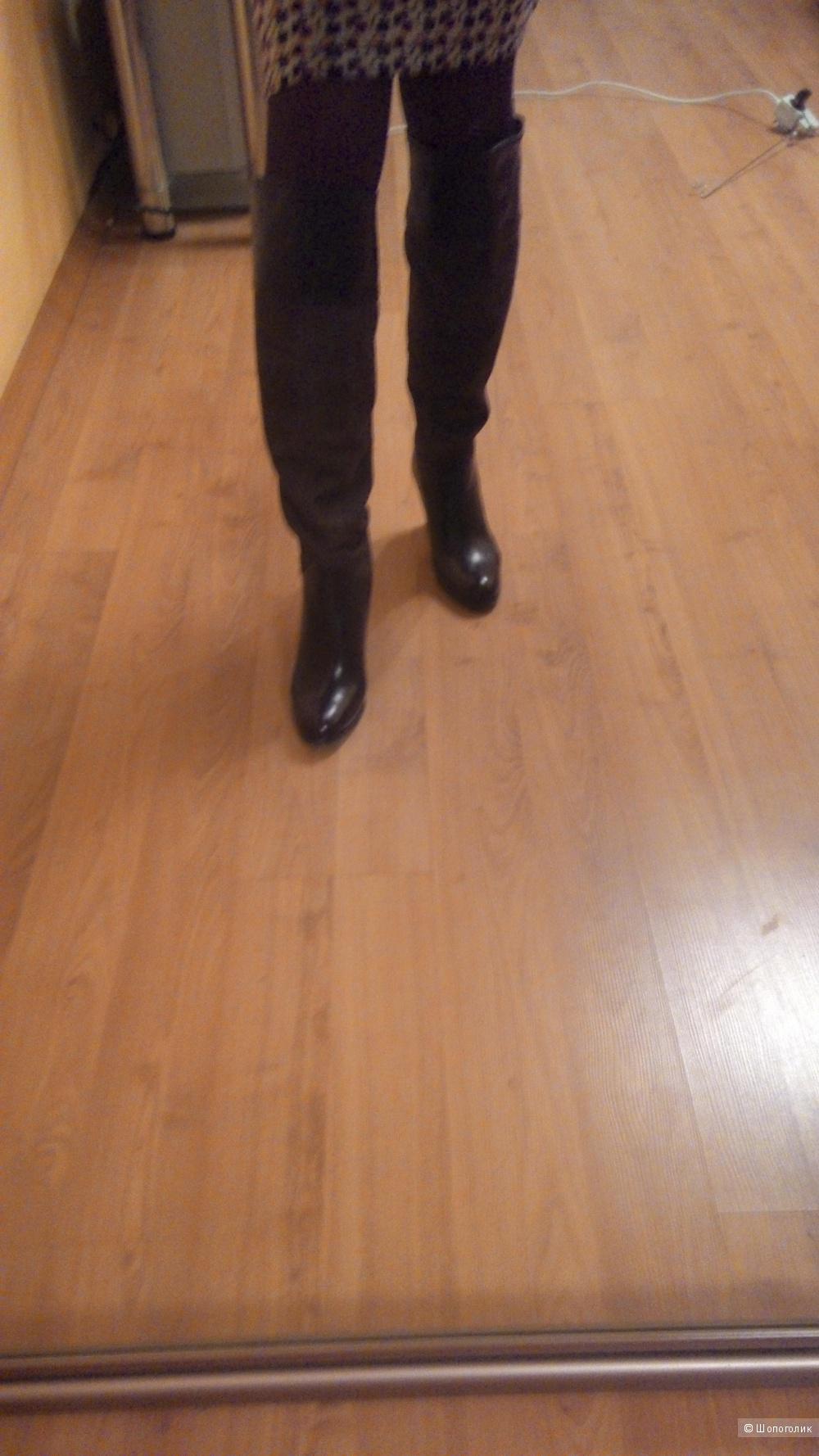 Кожанные сапоги Paolo Ferri Италия, 37 размер