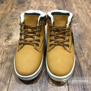 Утеплённые ботинки из натурального нубука, DPAM (Франция), 33