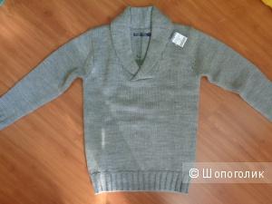 Новый серый джемпер унисекс Woolovers XS, 100% овечья шерсть