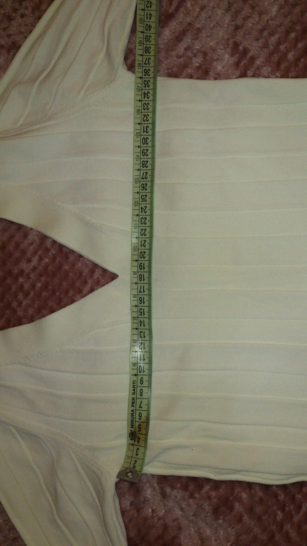 Кофта белая с V-образным вырезом MORE & MORE, размер 34 (нем) = 40-42 (рос), Германия