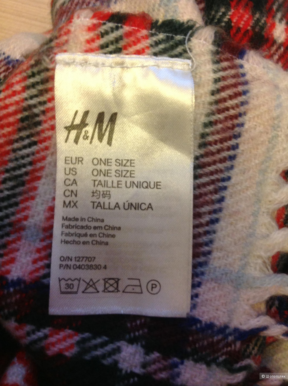 Шарф, H&M, one size
