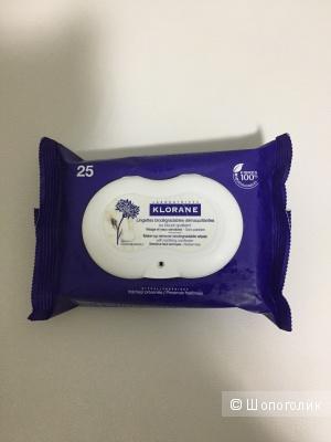 Клоран Салфетки для снятия макияжа с экстрактом василька 25 шт