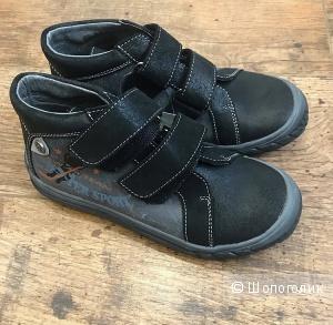 Ботинки из натуральной кожи и нубука, DPAM (Франция), 32