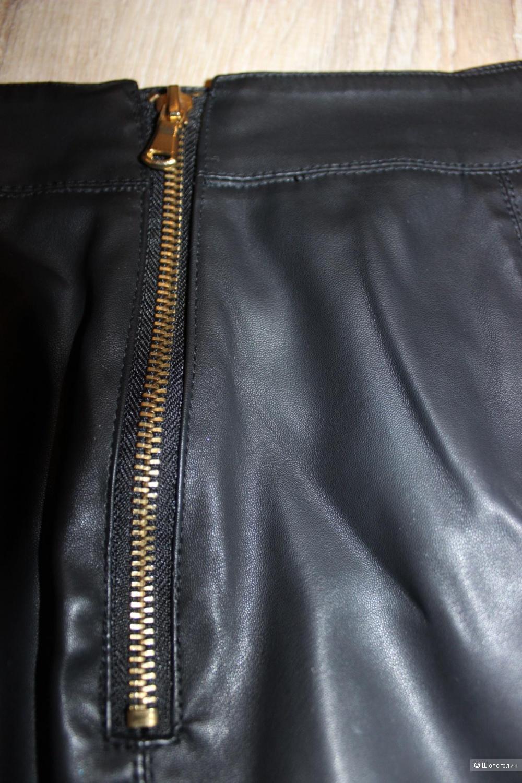 Юбка-карандаш под кожу ZARA, размер 46-48