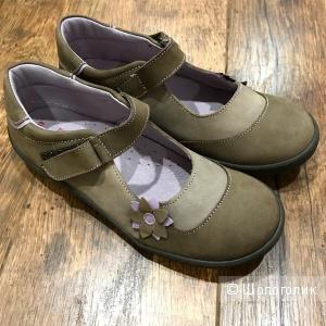 Туфельки из натуральной кожи и нубука, DPAM, 34