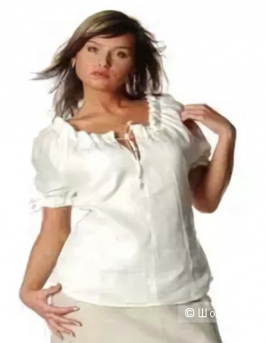 ESPRIT: белая хлопковая рубашка на завязках, оригинал, 46-48