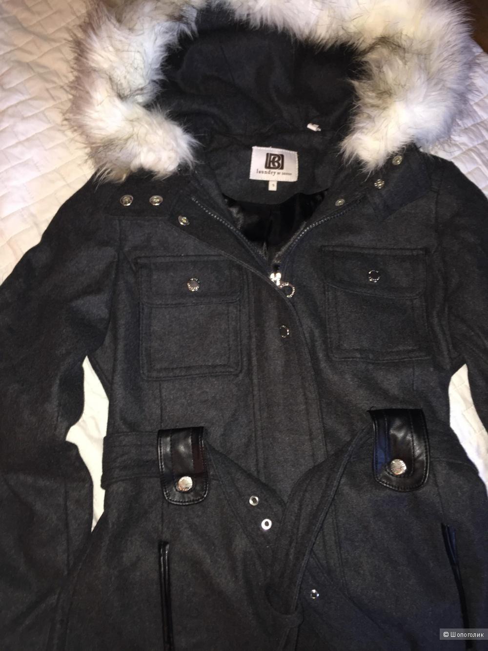 Новое шерстяное пальто Laundry by Design, S
