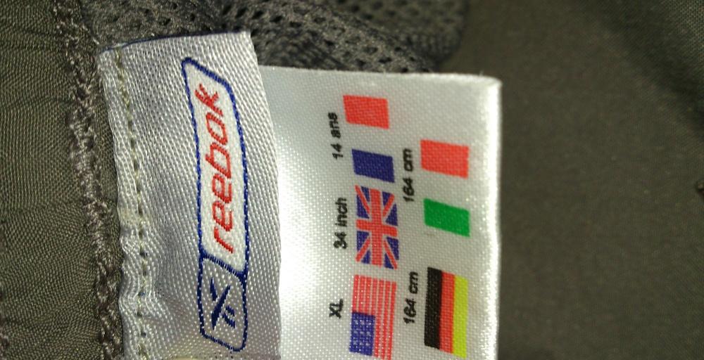Брюки спортивные Reebok на подкладке, размер S = 42-44 (рос), Германия