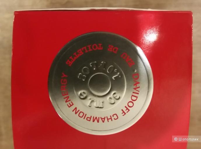 Туалетная вода для мужчин Davidoff Champion Energy -30 мл
