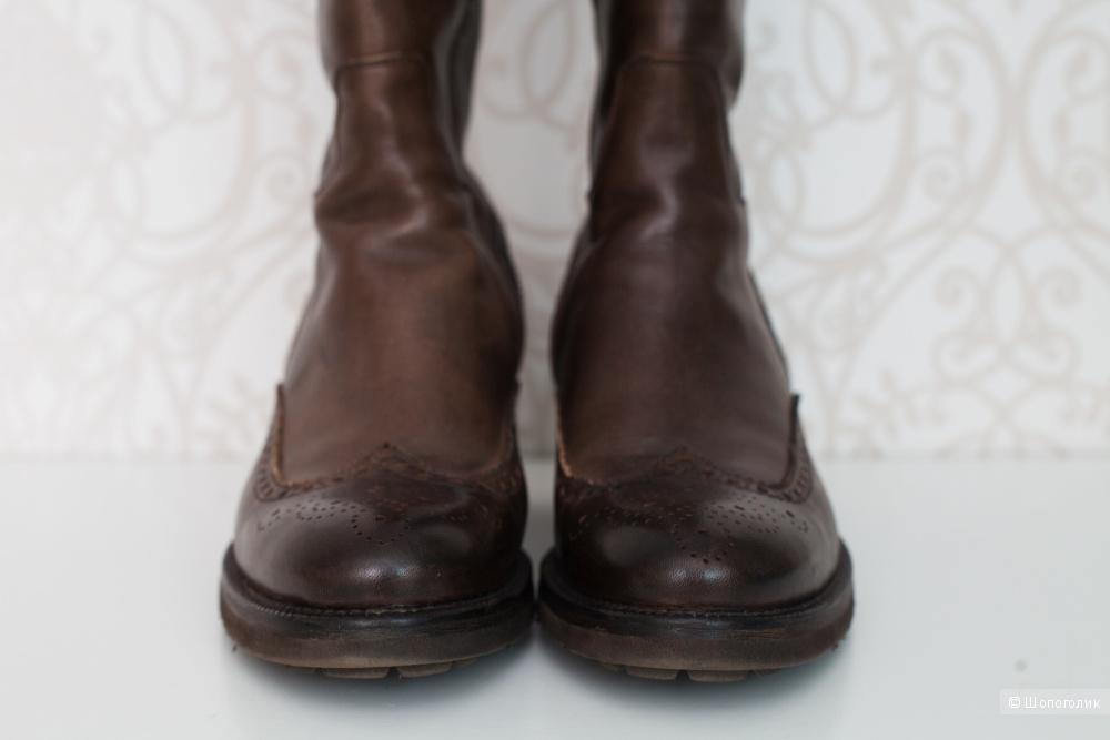 Сапоги кожаные демисезонные Carlo Pazolini, 37 размер