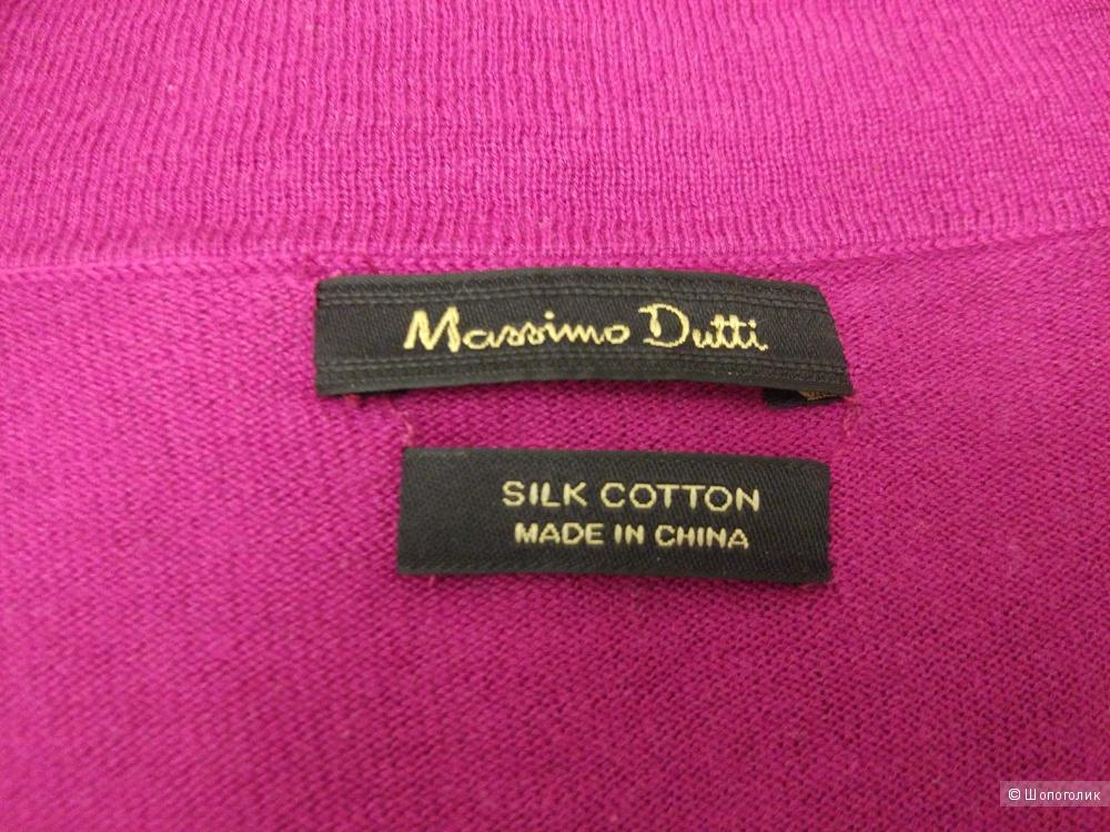 Кардиган Massimo Dutti размер XS-M из хлопка и шелка