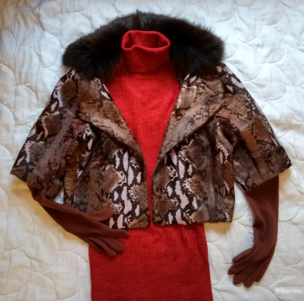 Куртка-накидка Elibol из пони и лисы,М-L